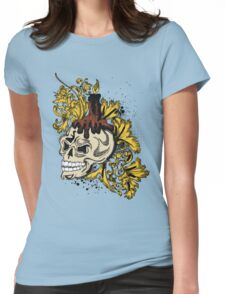 skull candle Womens Fitted T-Shirt