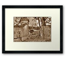 Historical Ruins on West Bay Street in Nassau, The Bahamas Framed Print