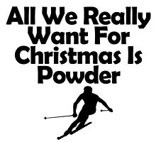 All We Really Want For Christmas is Powder by teeholics