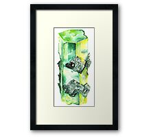 Watercolor Emerald – May Birthstone Framed Print