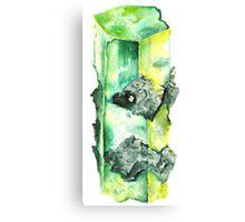 Watercolor Emerald – May Birthstone Canvas Print
