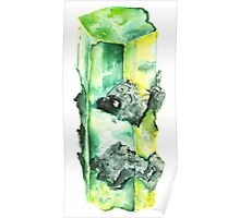 Watercolor Emerald – May Birthstone Poster
