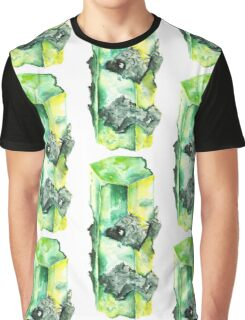 Watercolor Emerald – May Birthstone Graphic T-Shirt