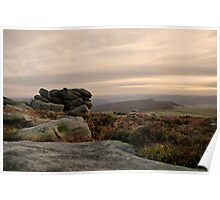As the sun goes down on Higger Tor Poster