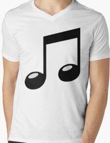 black music note Mens V-Neck T-Shirt