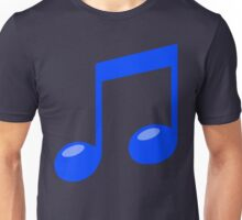 blue musical note Unisex T-Shirt