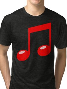 red musical note Tri-blend T-Shirt