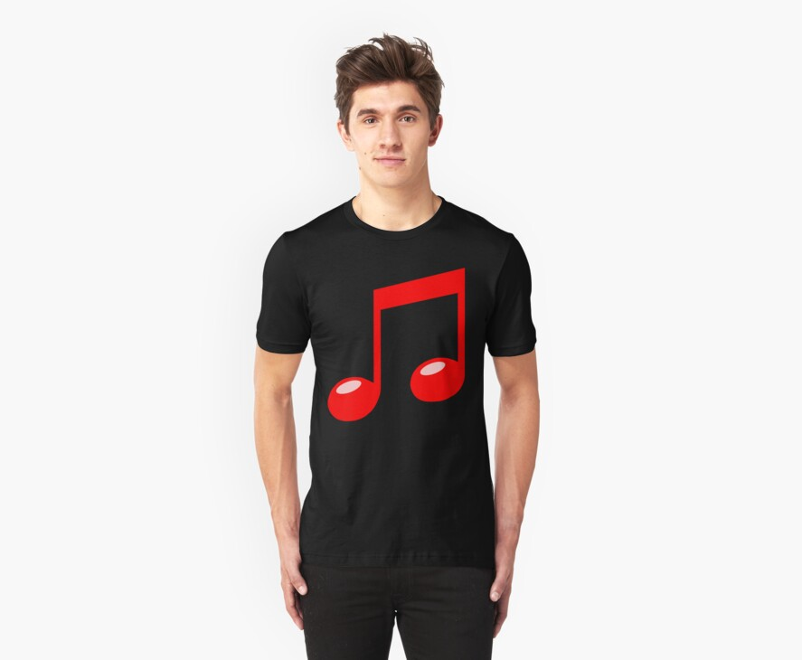 red musical note by red-rawlo