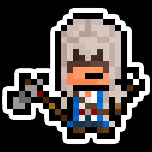 "Pixel Ratonhnhaké:ton / Connor (""Assassins Creed 3"") Sticker by PixelBlock"