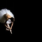 Ballerina Tieing Her Ribbons by Sandra Chung