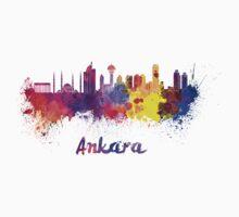 Ankara skyline in watercolor Baby Tee