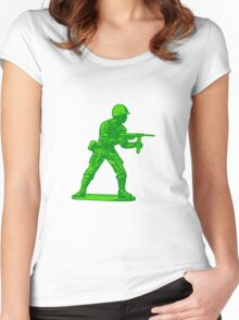 green toy soldier Women's Fitted Scoop T-Shirt