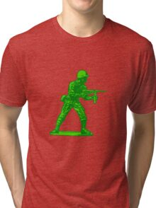 green toy soldier Tri-blend T-Shirt