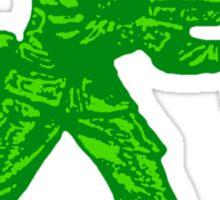 green toy soldier Sticker