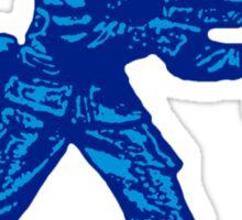 blue toy soldier Sticker