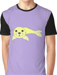 Light Yellow Baby Seal Graphic T-Shirt