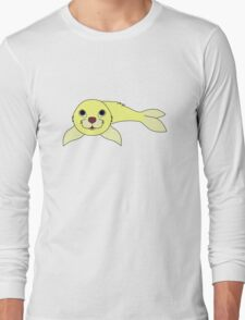 Light Yellow Baby Seal Long Sleeve T-Shirt