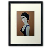 ART DECO  SPANISH DANCER Framed Print