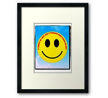 The inevitable political and anti-discriminatory demands of 1970s smiley  Framed Print