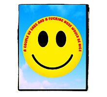 The inevitable political and anti-discriminatory demands of 1970s smiley  Photographic Print