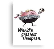 Hamlet - World's Greatest Thespian (Dark text) Canvas Print