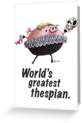 Hamlet - World's Greatest Thespian (Dark text) by JezLong