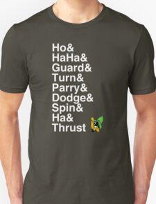 Robin Hood Daffy: Ho! Ha ha! Guard! Turn! Parry! Dodge! Spin! Ha! Thrust! T-Shirt