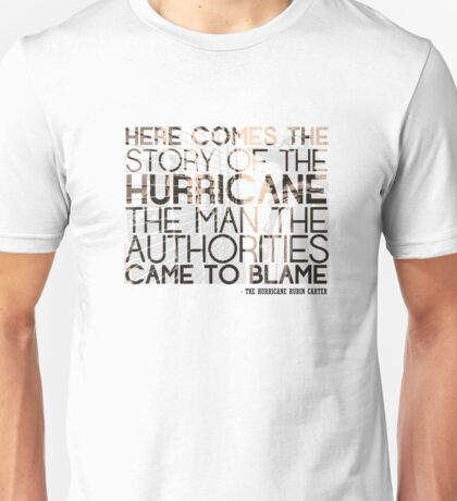 The Hurricane Bob Dylan T-shirt Unisex T-Shirt