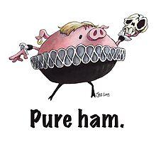 Hamlet - Pure ham (Dark text) by JezLong
