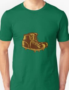 Vintage Football Boots Woodcut T-Shirt