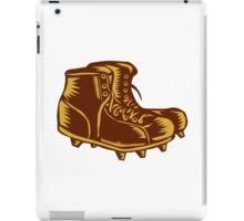 Vintage Football Boots Woodcut iPad Case/Skin