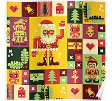 Christmas Pattern No. 1 Poster