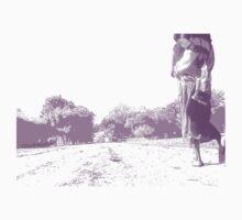 Down the road (purple) Kids Tee