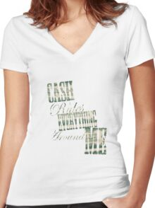 Cash Rules everything around me C.R.E.A.M. - T Shirt Women's Fitted V-Neck T-Shirt