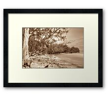 Coral Harbour Beach in Nassau, The Bahamas Framed Print