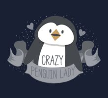 Crazy penguin Lady Banner Kids Tee