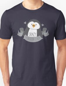 Crazy penguin Lady Banner Unisex T-Shirt