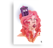 The Girl with the TARDIS in her Hair Canvas Print