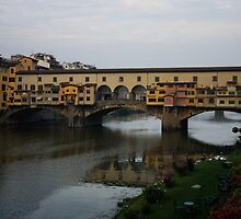 Florence, Italy - An Autumn Day at Ponte Vecchio  by Georgia Mizuleva