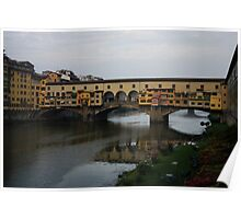 Florence, Italy - An Autumn Day at Ponte Vecchio  Poster