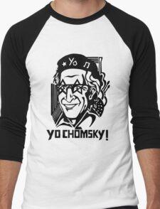 YO CHOMSKY! Black Version Men's Baseball ¾ T-Shirt