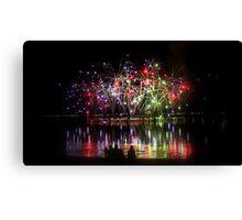 Firework Reflections Canvas Print