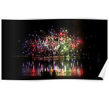 Firework Reflections Poster
