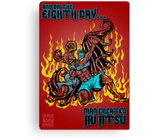 On The Eighth Day Man Created Jiu Jitsu Canvas Print