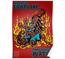 On The Eighth Day Man Created Jiu Jitsu Poster