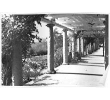 Black and White English Garden Poster