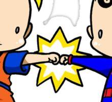 Goku Bro Fists Superman Sticker