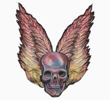 Winged Skull  by David Michael  Schmidt