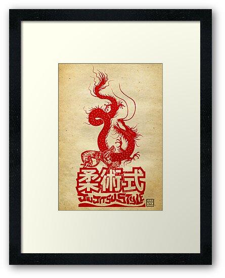 Monkey King Defeats The Dragon by Meerkatsu