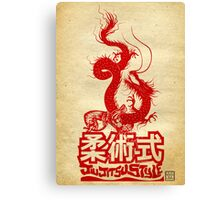 Monkey King Defeats The Dragon Canvas Print